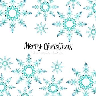Aquarell-weihnachtsschneeflocken-hintergrund