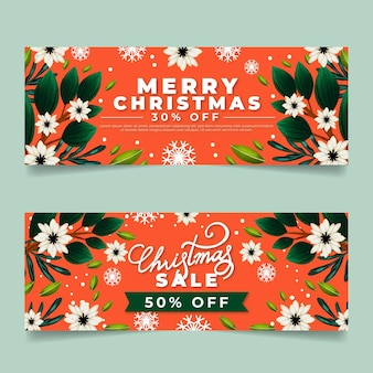 Aquarell weihnachtsverkauf banner pack