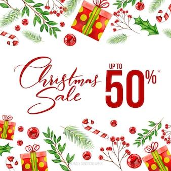 Aquarell weihnachtsverkauf