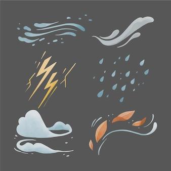 Aquarell wettereffekte
