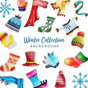 Aquarell winter kollektion