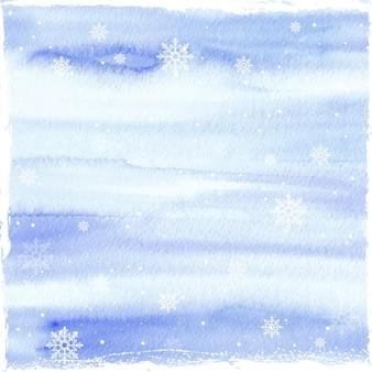 Aquarell winterhintergrund