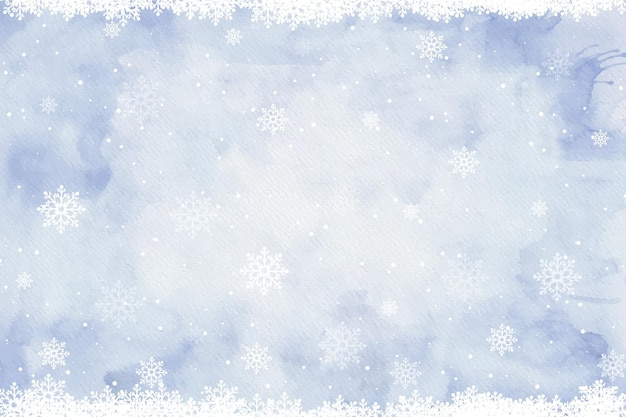 Aquarell winterhintergrund Kostenlosen Vektoren