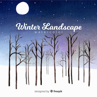 Aquarell winterlandschaft
