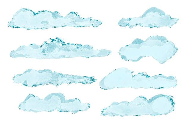 Aquarell wolken sammlung