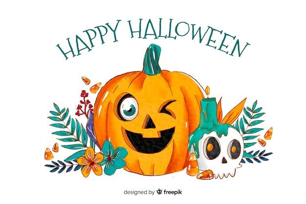 Aquarellarthintergrund für halloween