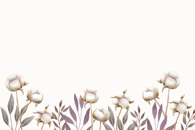 Aquarellbaumwollhintergrundillustration