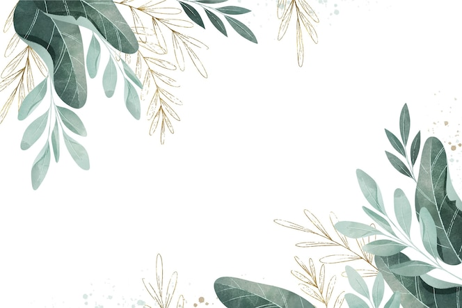 Aquarellblätter mit leerem raum