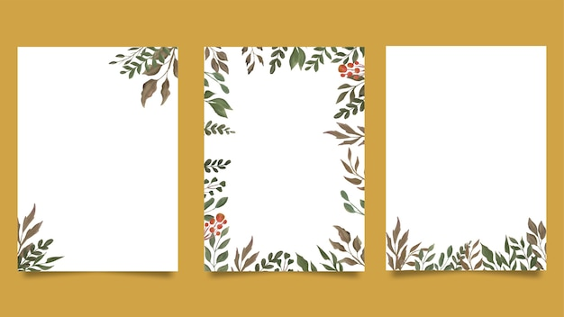 Aquarellblatt-einladungskartenschablone