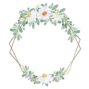 Aquarellblumen-einladungsrahmen des hellen vintagen tones reizender