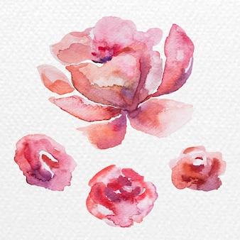 Aquarellblumen