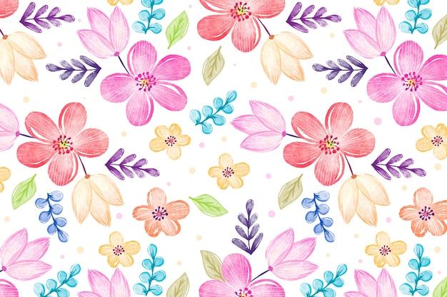 Aquarellblumenhintergrund mit weichen farben