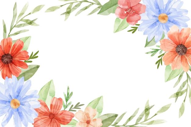 Aquarellblumenhintergrund