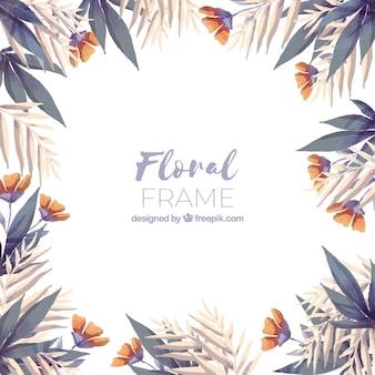 Aquarellblumenrahmen mit bunter art