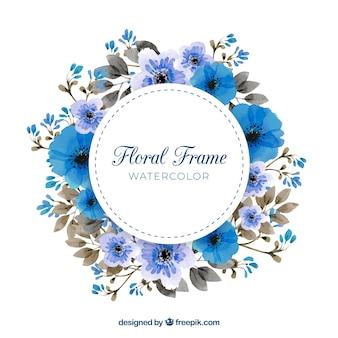 Aquarellblumenrahmen mit reizender art