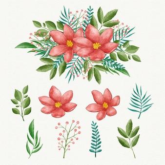 Aquarellblumensammlung