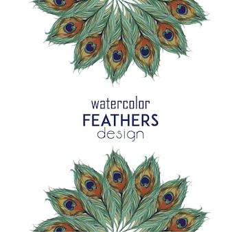 Aquarellfedern design