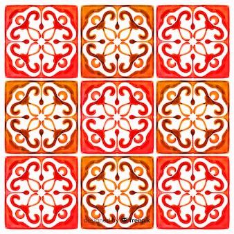 Aquarellhintergrund im mosaikdesign
