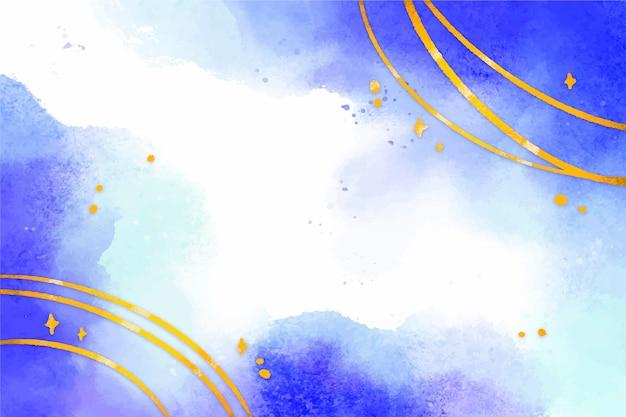 Aquarellhintergrund mit goldenem folienzoom