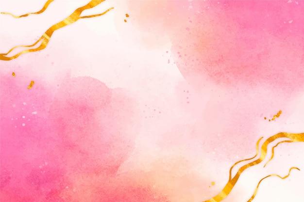 Aquarellhintergrund mit goldener folie
