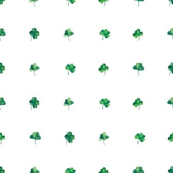 Aquarellhintergrund mit grünen kleeblättern für heiliges patrick-tag