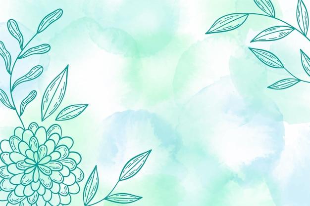Aquarellhintergrund mit hand gezeichneten elementen