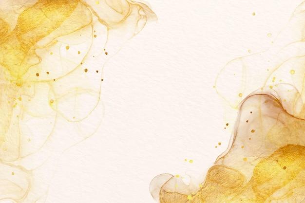 Aquarellhintergrund mit luxuriösen goldenen akzenten