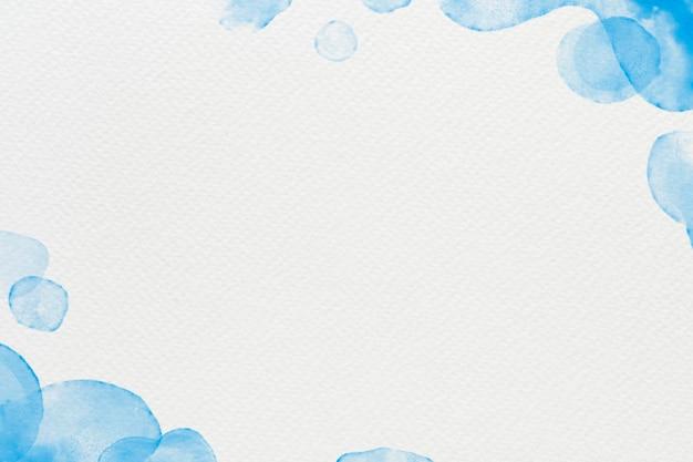 Aquarellhintergrundvektor im blauen abstrakten stil
