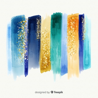 Aquarellstriche mit glitzer