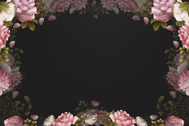 Aquarelltapete mit rosen