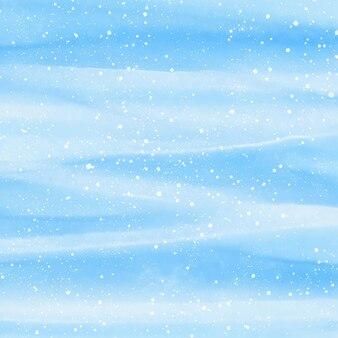 Aquarellweihnachtshintergrund mit schnee