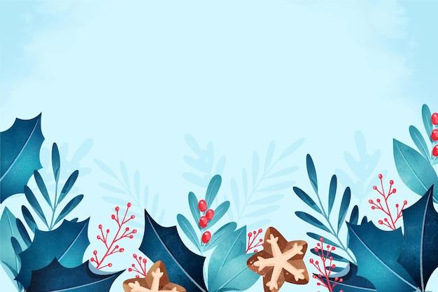 Aquarellweihnachtshintergrund