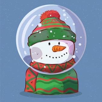 Aquarellweihnachtsschneeballkugel