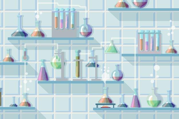Aquarellwissenschaftliches laborkonzept