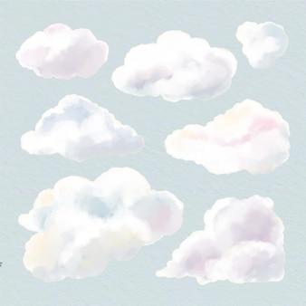 Aquarellwolkensammlung
