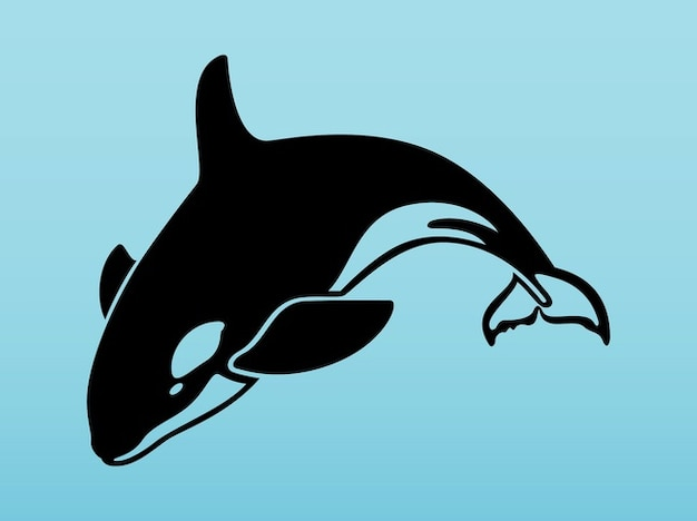 Aquatischen orca in vektor-pack