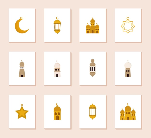 Araber ikonen gesetzt