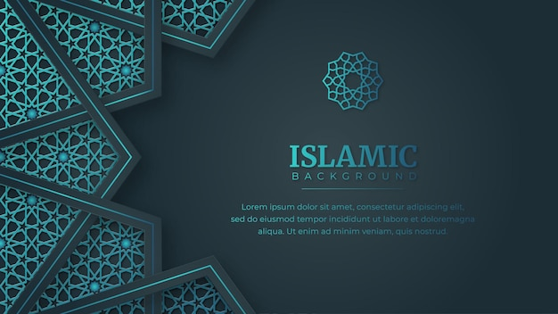 Arabesque abstract banner vorlage