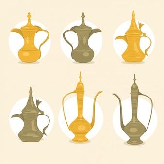 Arabisch kaffee-töpfe sammlung