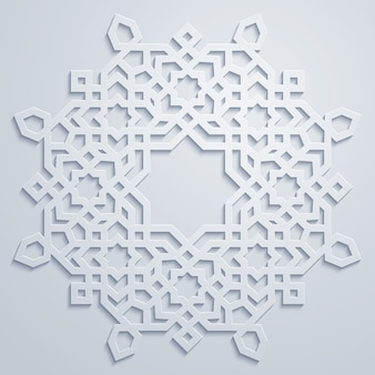 Arabische geometrische kreisverzierung