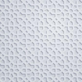Arabische geometrische muster marokko-verzierung