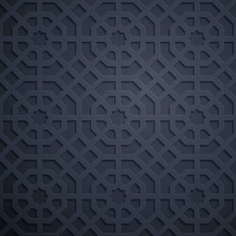 Arabische geometrische verzierung des traditionellen marokko-musters