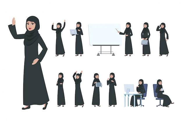 Arabische geschäftsfrau.