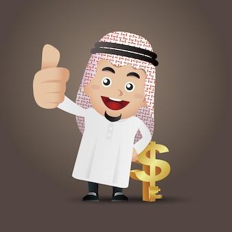 Arabische geschäftskonzeptillustration