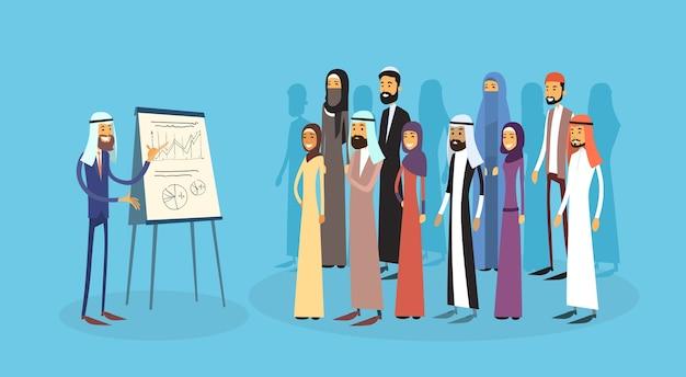 Arabische geschäftsleute gruppe