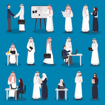 Arabische geschäftszeichen eingestellt