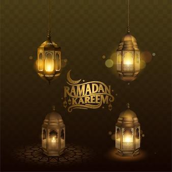 Arabische laterne ramadan kareem