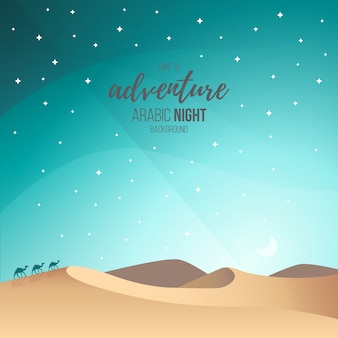Arabische nachtlandschaft