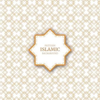 Arabischer dekorativer islamischer nahtloser musterhintergrund