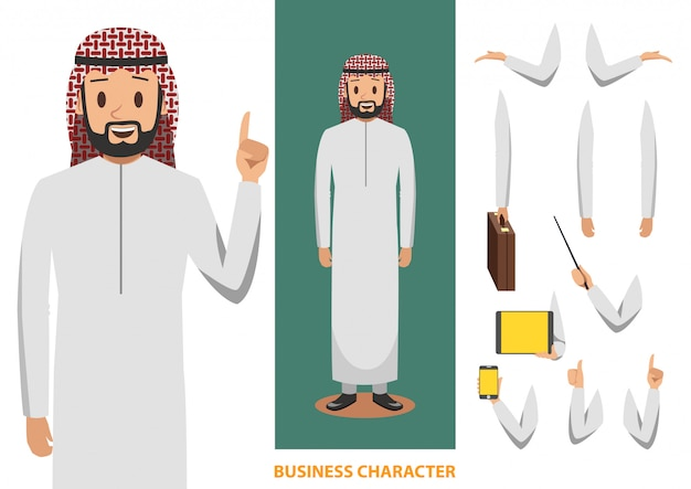 Arabischer geschäftscharakterdesign